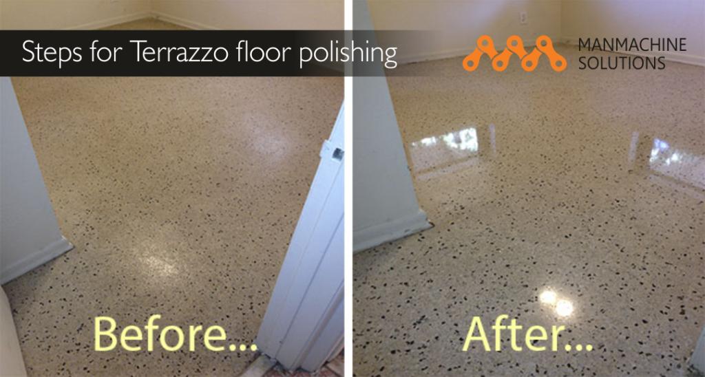 Terrazzo floor polishing